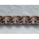 Chaine plate 12x9 cuivrée - 1 mètre