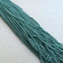 Chaine plate 1.5x2mm Turquoise - 1 mètre