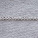 Chaine ronde 1.2mm Argent vif - 1 mètre