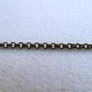 Chaine ronde 2mm Bronze - 1 mètre