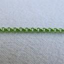 Chaine ronde 2mm Vert anis - 50cm