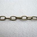 Chaine d'extension 7x4 Bronze - 1 mètre