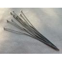 Clou 70mm Rhodium - Lot de 100
