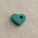 Coeur 10mm Bleu Turquoise