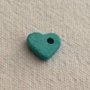Coeur 10mm Bleu Turquoise