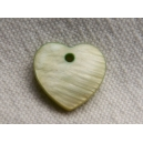 Coeur 12mm Vert pomme