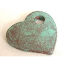 Coeur 35mm Turquoise Pierre - 5 x 1€