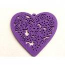 Coeur Bois 45mm Violet