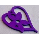 Coeur 50x35 Violet