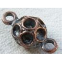 Connecteur boule pour recevoir 7 strass de 2.3mm cuivre