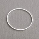 Anneau ovale 40x20 argent vif - 40x0.08€