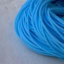 Cordon en caoutchouc 2mm Bleu Phocéen - 1 mètre.