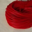 Cordon en caoutchouc 2mm Rouge - 1 mètre