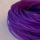 Cordon en caoutchouc 2mm Violet - 1 mètre.