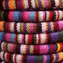 Cordon ethnique rond 6.5mm Multicolore - 1 mètre