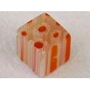 Cube 10x10 Orange/Blanc