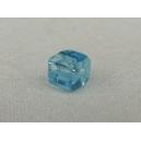 Cube 4x4 Aiguemarine - Fil de 80 perles
