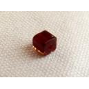 Cube 4x4 Grenat/Topaze - fil de 80 perles