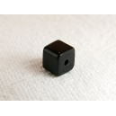 Cube 4x4 Noir - Fil de 80 perles