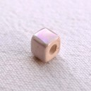 Cube 6x6 Rose clair irisé
