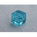 Cube 6x6 Aiguemarine - Fil de 50 perles