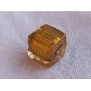 Cube 6x6 feuille argent Or - fil de 60 perles
