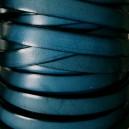 Cuir plat 10mm Bleu pétrol - 1cm