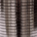 Cuir plat 5mm Anthracite brillant