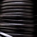 Cuir plat 5mm Noir - 1cm