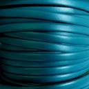 Cuir plat 5mm Turquoise nacré - 1cm