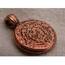 Pendentif aztèque 16mm cuivre