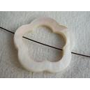 Donut percé fleur 30mm Naturel