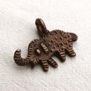 Eléphant ethnique cuivre antique