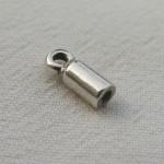 Embout 12x4 argenté pour lacet 1.5mm