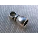 Embout 7x14 argenté pour cordon 5mm