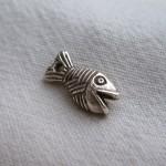 Embout poisson 16x7 argenté.