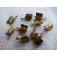 Embout pour lacet 4x2.5 Bronze - Lot de 10