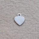 Coeur 6x8 argent - Lot de 10