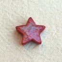 Etoile 13/15mm Rouge irisé