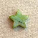 Etoile 13/15mm Vert irisé