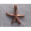 Etoile de mer 15x15 cuivre