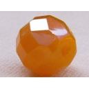 Facette 12mm Jaune Safran opale AB