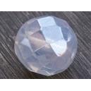 Facette 12mm Opaline lustré