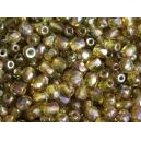 Facette 3mm Vert olivine poudré AB - Lot de 50