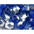 facette 4mm Bleu Saphir Argent
