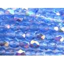 facette 4mm Bleu Saphir clair AB - Lot de 50