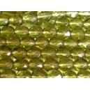 facette 4mm Vert Olivine Lot de 50