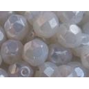 Facette 6mm Blanc opale nacré