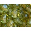 Facette 6mm Vert Olivine