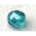 Facette 8mm Bleu zircon lustré